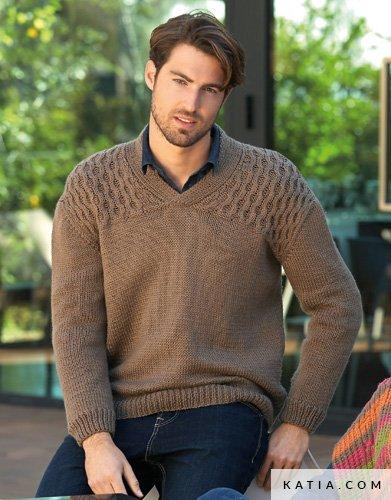 Pull-homme-ocomptoirdespassions-villemursurtarn--tricoter-tricot-crochet-homme-pull-automne-hiver-katia-merinoaran